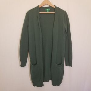 DIP green sweater cardigan with pockets
